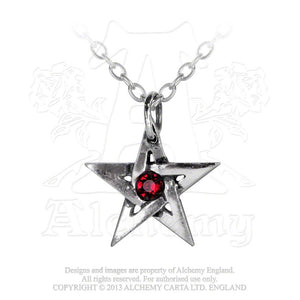 Alchemy Gothic Crystal Pentagram Pendant from Gothic Spirit