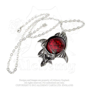 Alchemy Gothic Blood Moon Pendant from Gothic Spirit