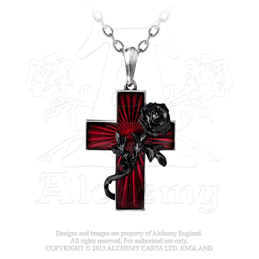 Alchemy Gothic Order Of The Black Rose Pendant from Gothic Spirit