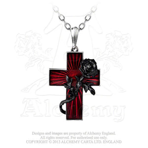 Alchemy Gothic Order Of The Black Rose Pendant - Gothic Spirit