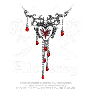 Alchemy Gothic Bleeding Heart Necklace from Gothic Spirit