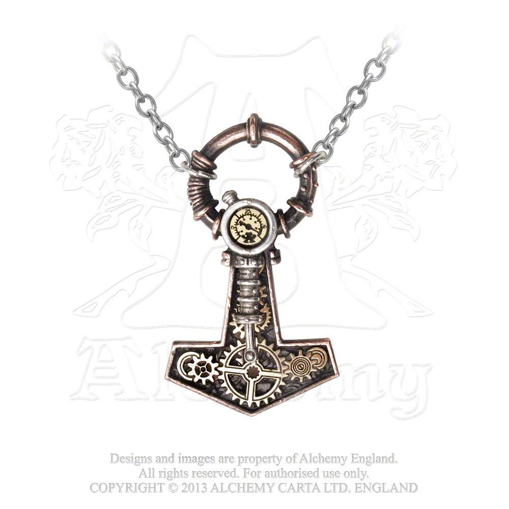 Alchemy Empire: Steampunk Steamhammer Pendant from Gothic Spirit