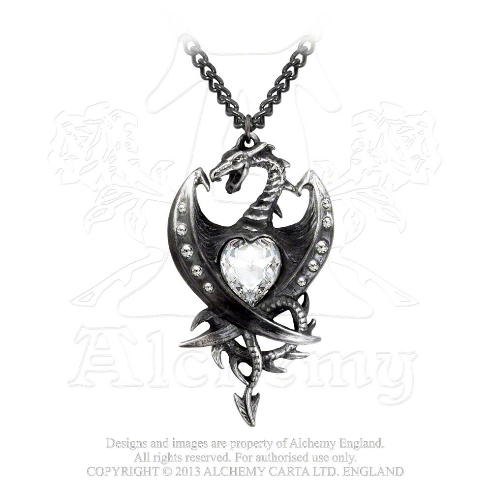 Alchemy Gothic Diamond Heart Pendant from Gothic Spirit