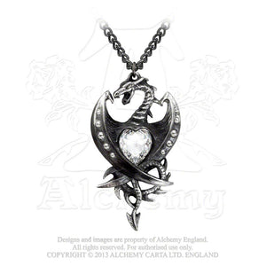 Alchemy Gothic Diamond Heart Pendant - Gothic Spirit