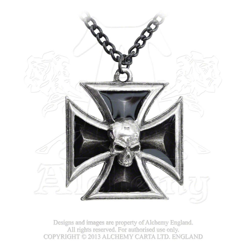 Alchemy Gothic Black Knight's Cross Pendant from Gothic Spirit