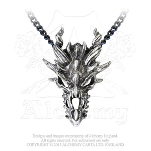 Alchemy Gothic Dragon Skull Pendant from Gothic Spirit