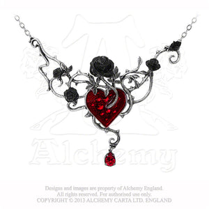 Alchemy Gothic Bed Of Blood-Roses Necklace from Gothic Spirit