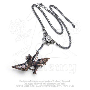 Alchemy Empire: Steampunk Spring-Heeled Jill Pendant from Gothic Spirit