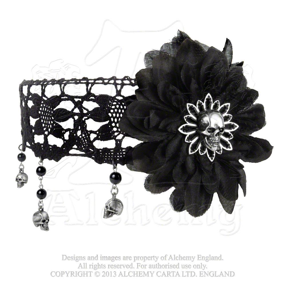 Alchemy Gothic Black Dahlia Choker from Gothic Spirit