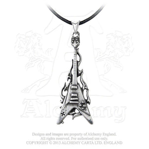 Alchemy Gothic Flaming V Pendant from Gothic Spirit