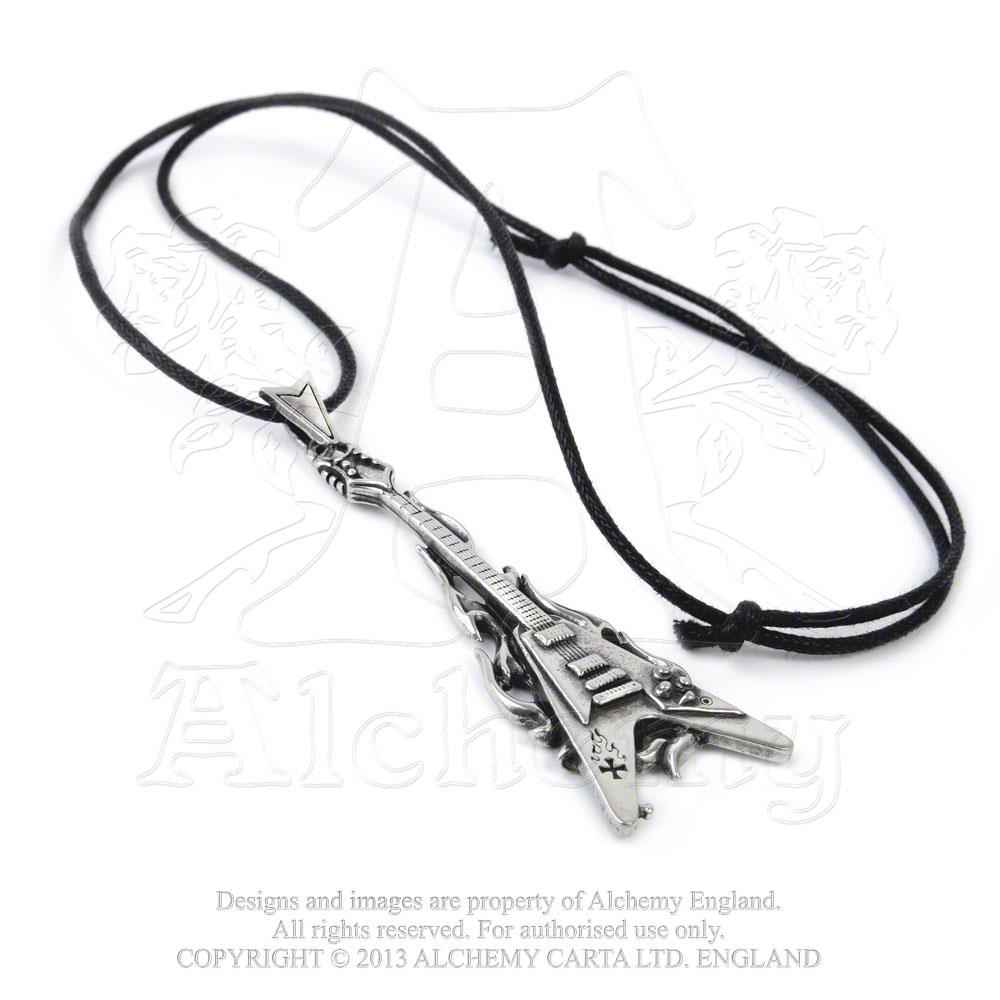 Alchemy Gothic Flaming V Pendant - Gothic Spirit