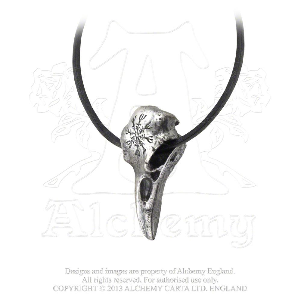 Alchemy Gothic Helm of Awe Ravenskull Pendant from Gothic Spirit