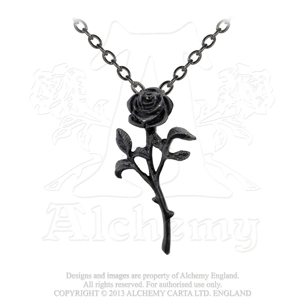 Alchemy Gothic The Romance Of Black Rose Pendant from Gothic Spirit