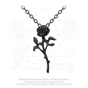 Alchemy Gothic The Romance Of Black Rose Pendant - Gothic Spirit