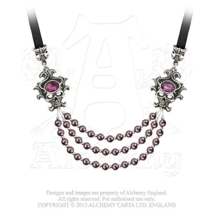 Alchemy Gothic The Palatine Pearls Of The Underworld Necklace - Gothic Spirit