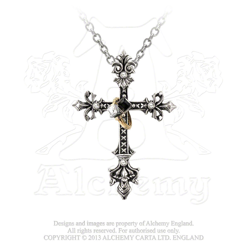 Alchemy Gothic Maryam Theotokos Ring Cross Pendant from Gothic Spirit