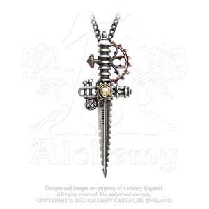 Alchemy Empire: Steampunk Static Traction Dagger Pendant from Gothic Spirit