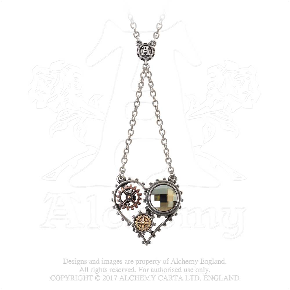 Alchemy Empire: Steampunk Coeur Du Morteur Pendant from Gothic Spirit