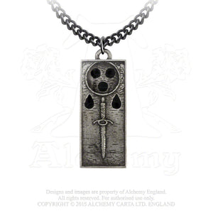 Alchemy Gothic Death Tally Ingot Pendant from Gothic Spirit
