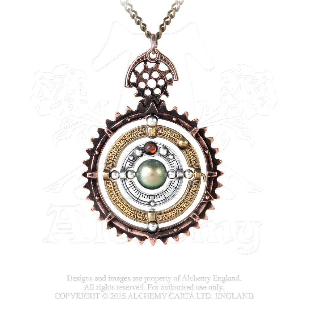 Alchemy Empire: Steampunk Orbium Coelestium Mechanicum Pendant from Gothic Spirit