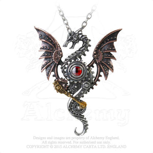 Alchemy Empire: Steampunk Blast Furnace Behemoth Necklace from Gothic Spirit