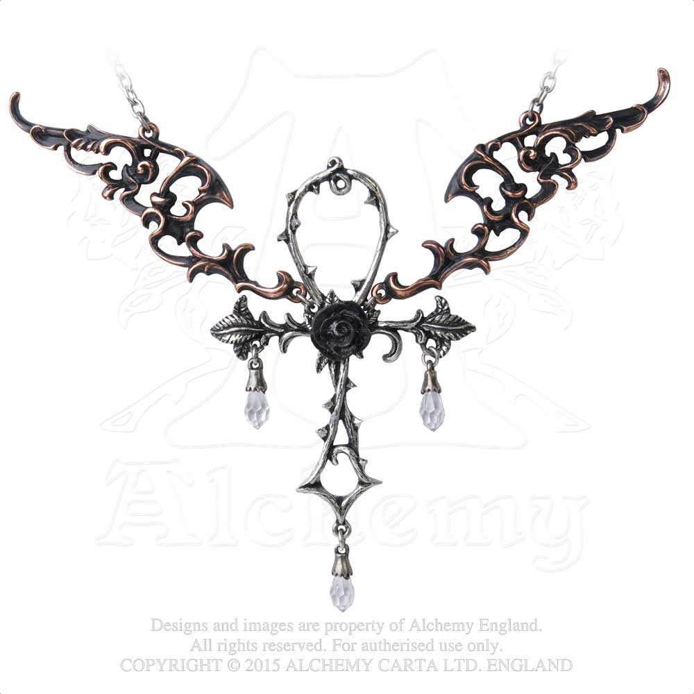 Alchemy Gothic Wings of Eternity Necklace - Gothic Spirit
