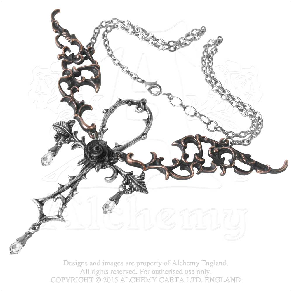 Alchemy Gothic Wings of Eternity Necklace from Gothic Spirit