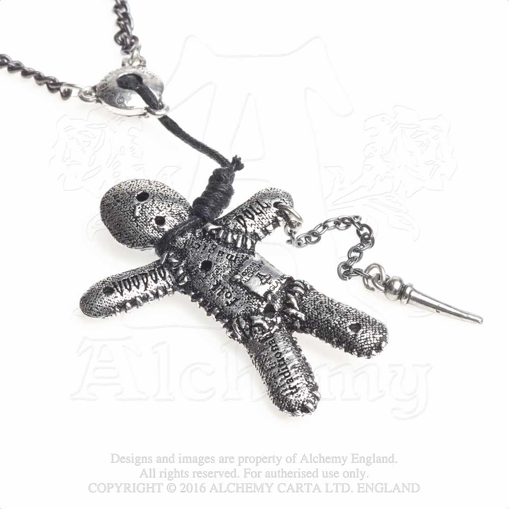 Alchemy Gothic Voodoo Doll Pendant from Gothic Spirit