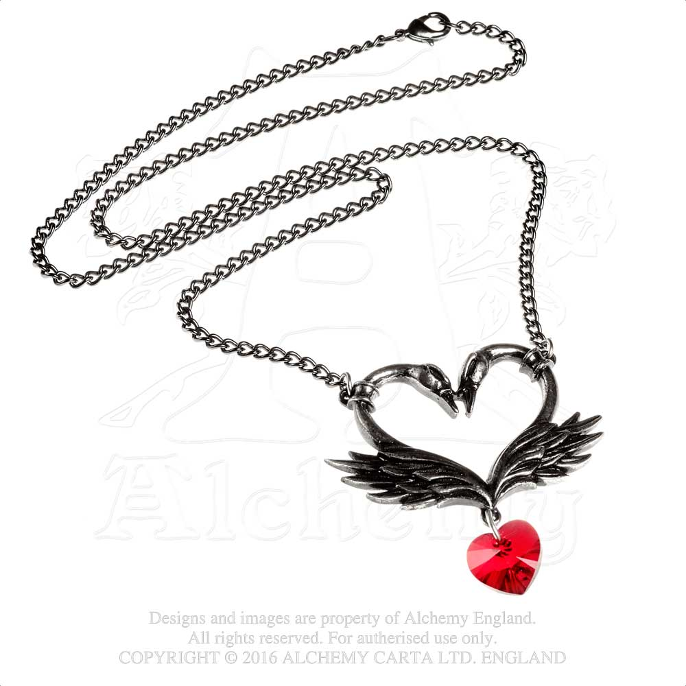 Alchemy Gothic The Black Swan Romance Necklace from Gothic Spirit