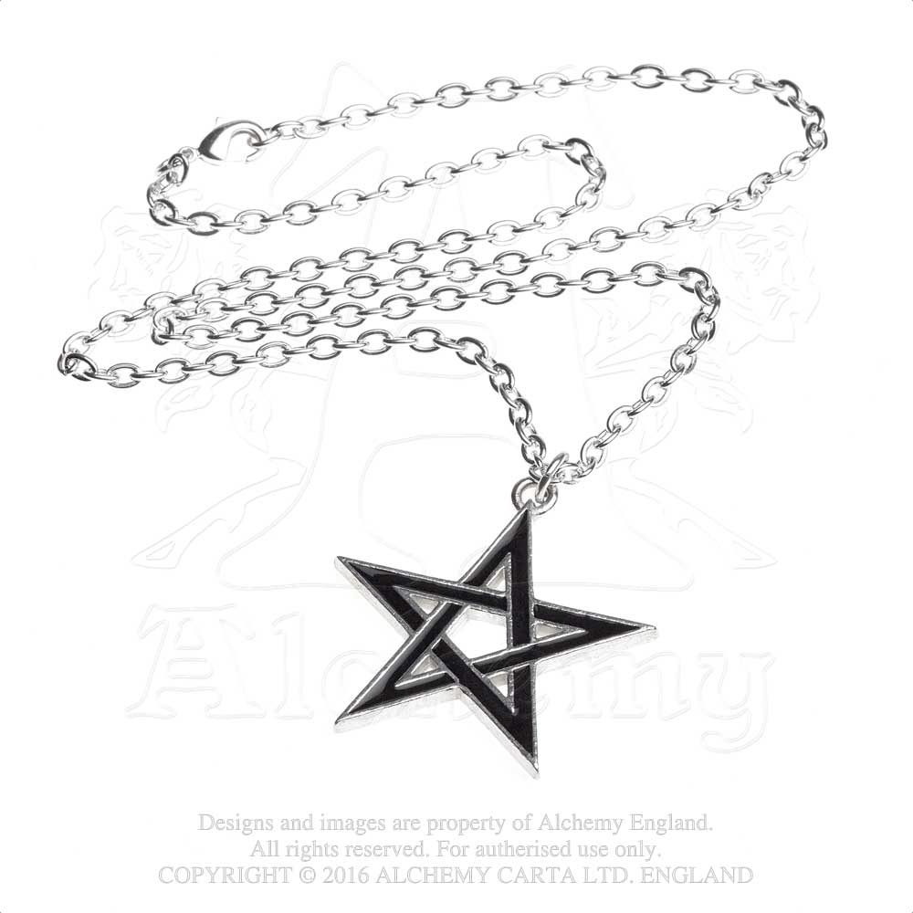 Alchemy Gothic Black Star Pendant from Gothic Spirit