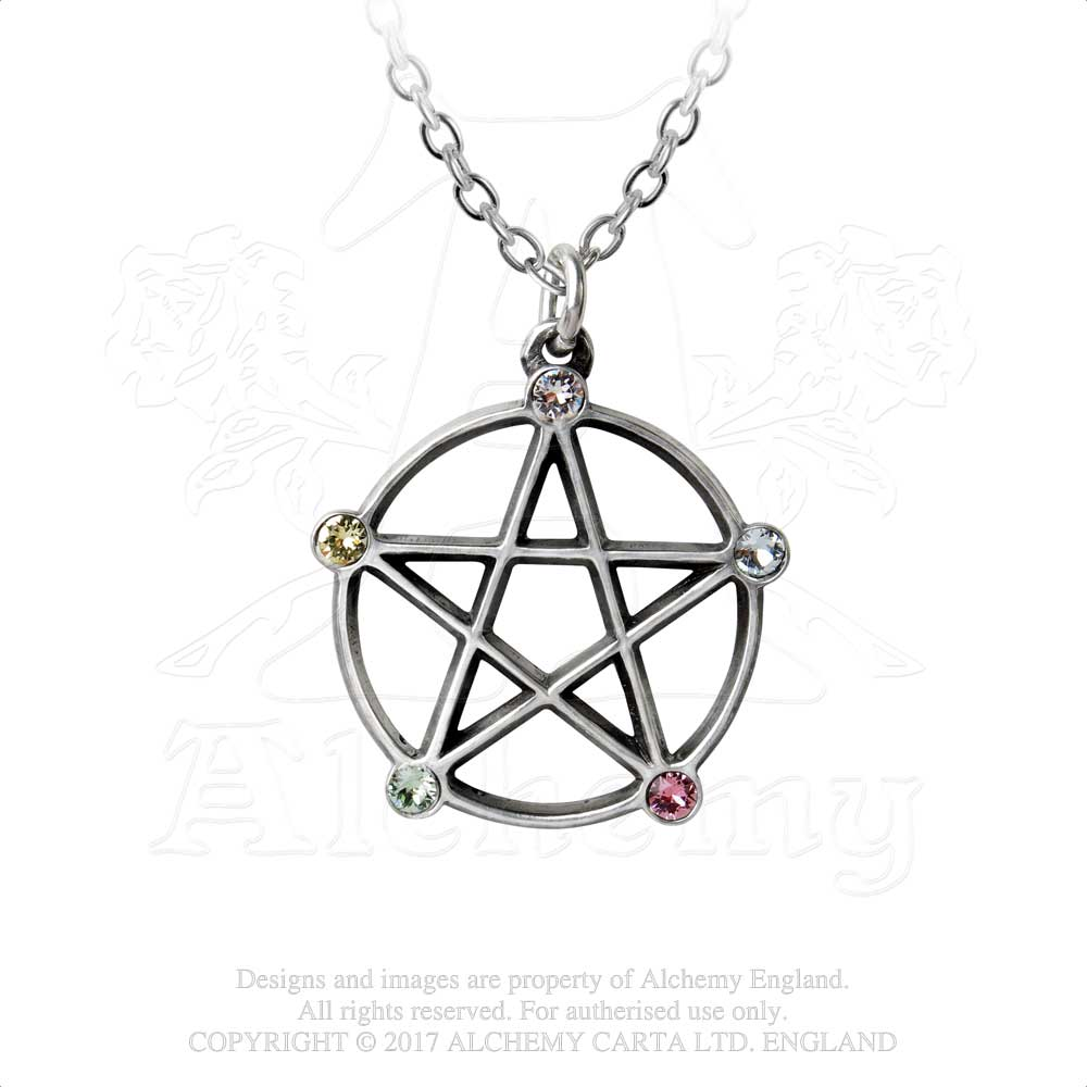 Alchemy Gothic Wiccan Elemental Pentacle Pendant from Gothic Spirit