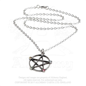 Alchemy Gothic Wiccan Elemental Pentacle Pendant - Gothic Spirit