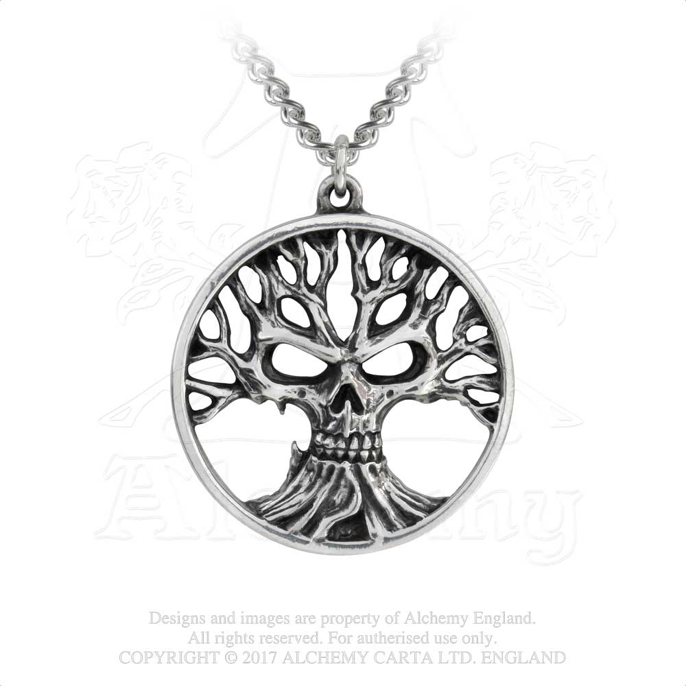 Alchemy Gothic Gotik Tree Of Death Pendant from Gothic Spirit