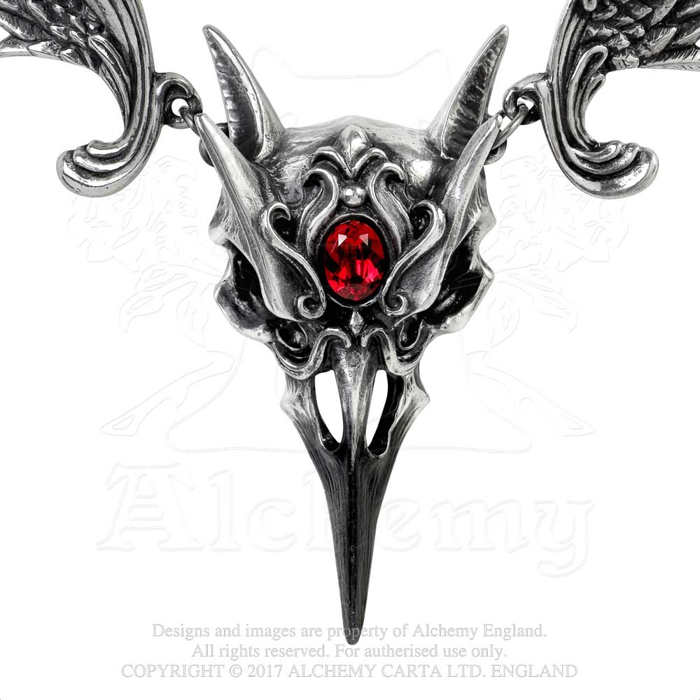 Alchemy Gothic Masque Of The Black Rose Necklace from Gothic Spirit