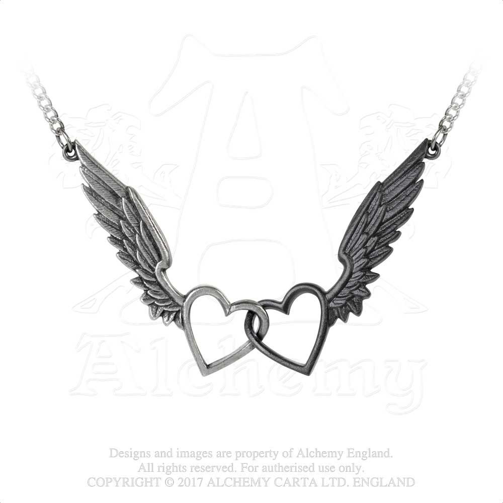Alchemy Gothic Passio: Wings Of Love Necklace from Gothic Spirit