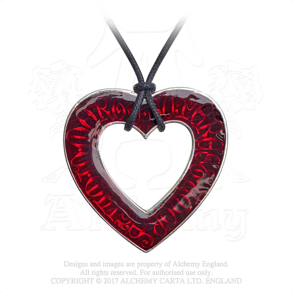 Alchemy Gothic Love Over Death Pendant - Gothic Spirit