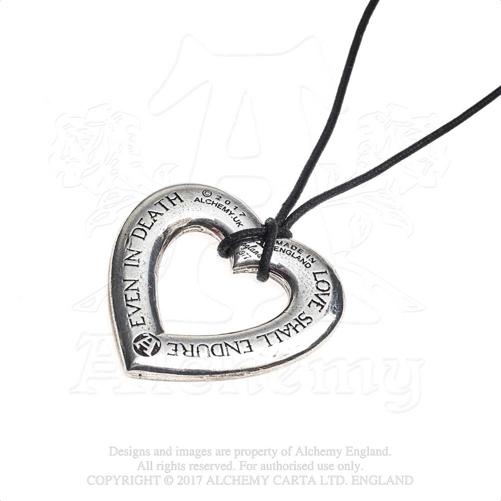 Alchemy Gothic Love Over Death Pendant from Gothic Spirit