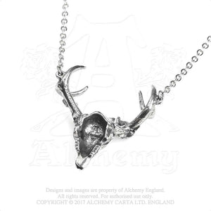 Alchemy Gothic White Hart, Black Rose Pendant from Gothic Spirit