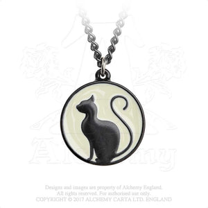 Alchemy Gothic Meow at the Moon Pendant - Gothic Spirit