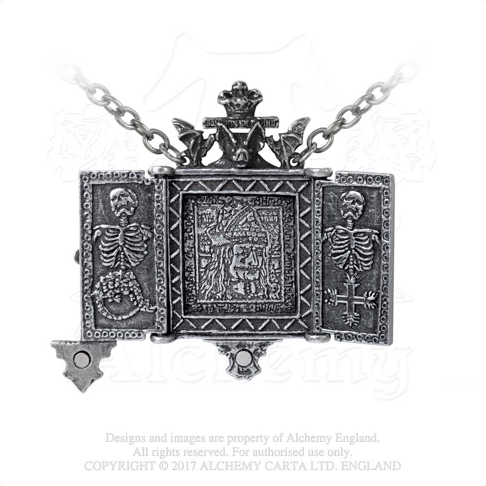 Alchemy Gothic Balkan Triptych Icon Locket - Gothic Spirit