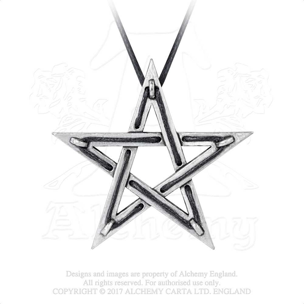 Alchemy Gothic Tethered Hex Pendant from Gothic Spirit