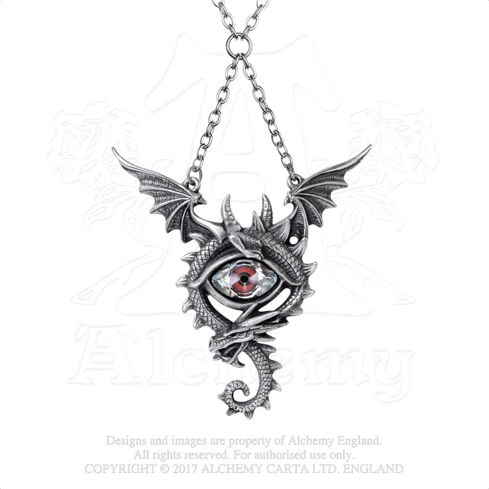 Alchemy Gothic Eye of the Dragon Pendant - Gothic Spirit