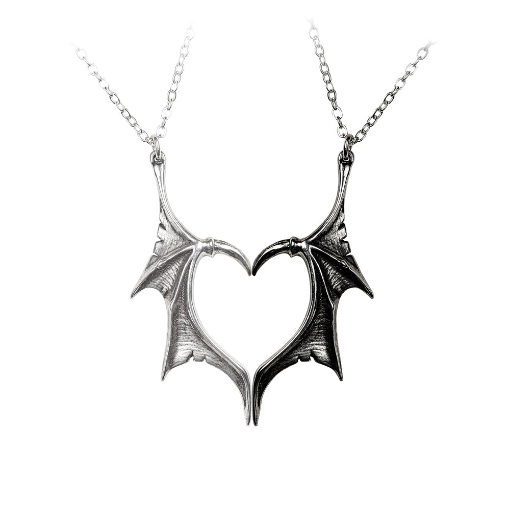 Alchemy Gothic Darkling Heart Friendship Pendants from Gothic Spirit