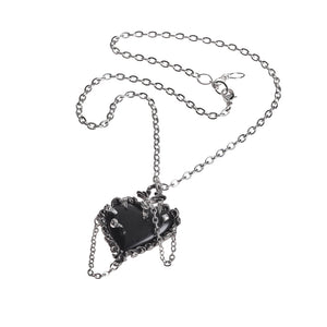 Alchemy Gothic Witch Heart Pendant