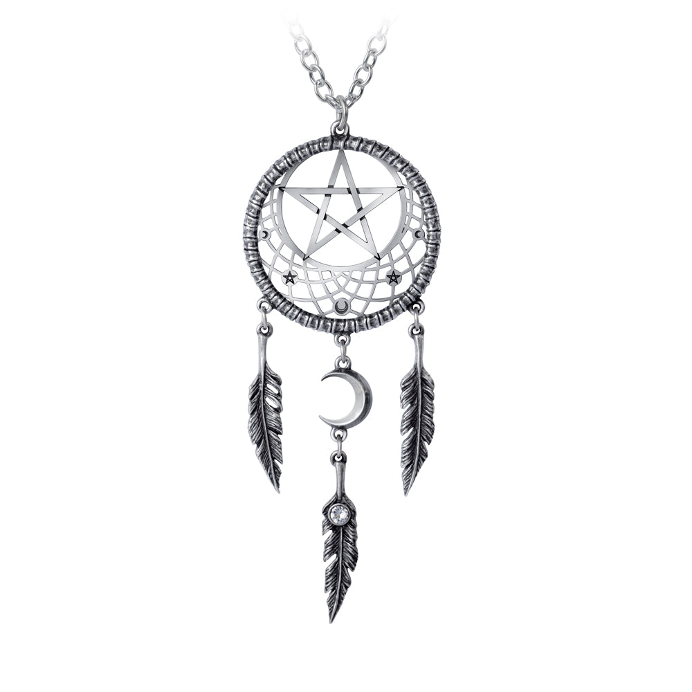 Alchemy Gothic Pagan Dream Catcher Pendant from Gothic Spirit
