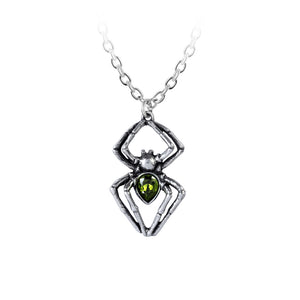 Alchemy Gothic Emerald Spiderling Pendant from Gothic Spirit