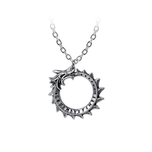 Alchemy Gothic Mini Jormungand Pendant from Gothic Spirit