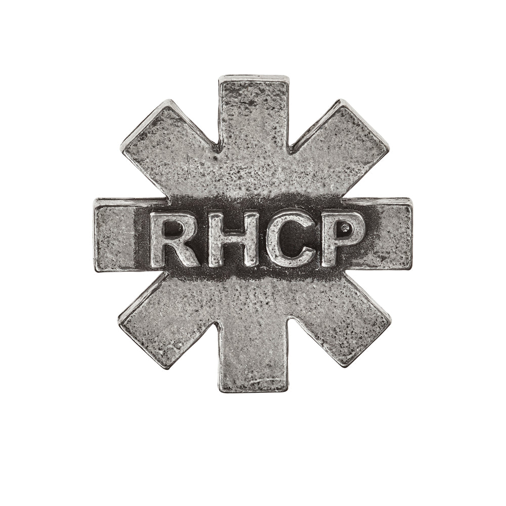 Alchemy Rocks Red Hot Chilli Peppers: RHCP logo Asterisk Pin Badge - Gothic Spirit