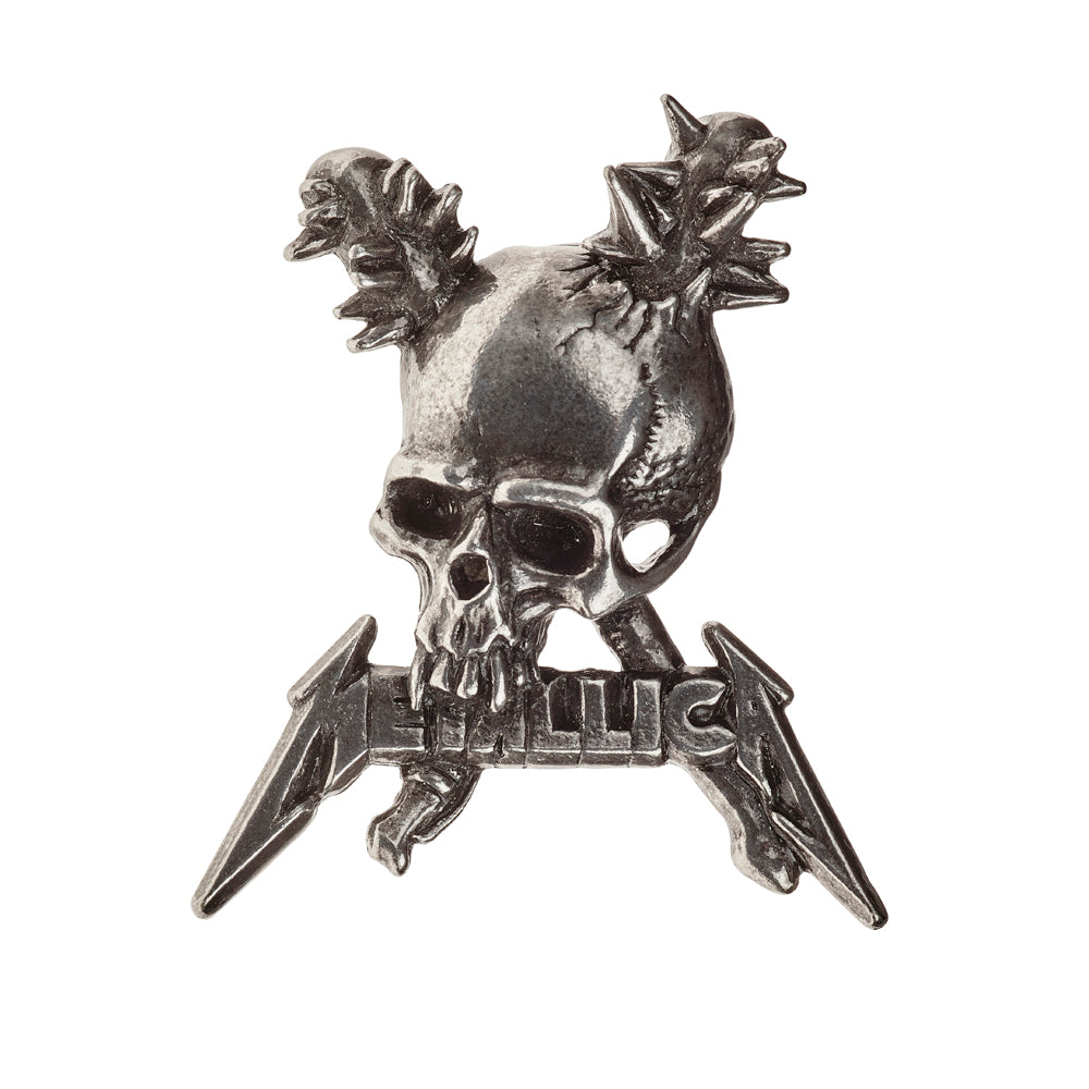 Alchemy Rocks Metallica: Damage Inc. skull Pin Badge from Gothic Spirit