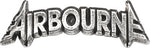 Alchemy Rocks Airbourne Lettering logo Pin Badge - Gothic Spirit